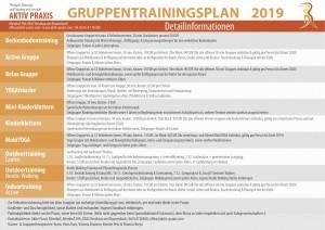 Gruppentrainingsplan Herbst 2019 Details