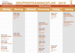 Gruppentrainingsplan Herbst 2019 Druck